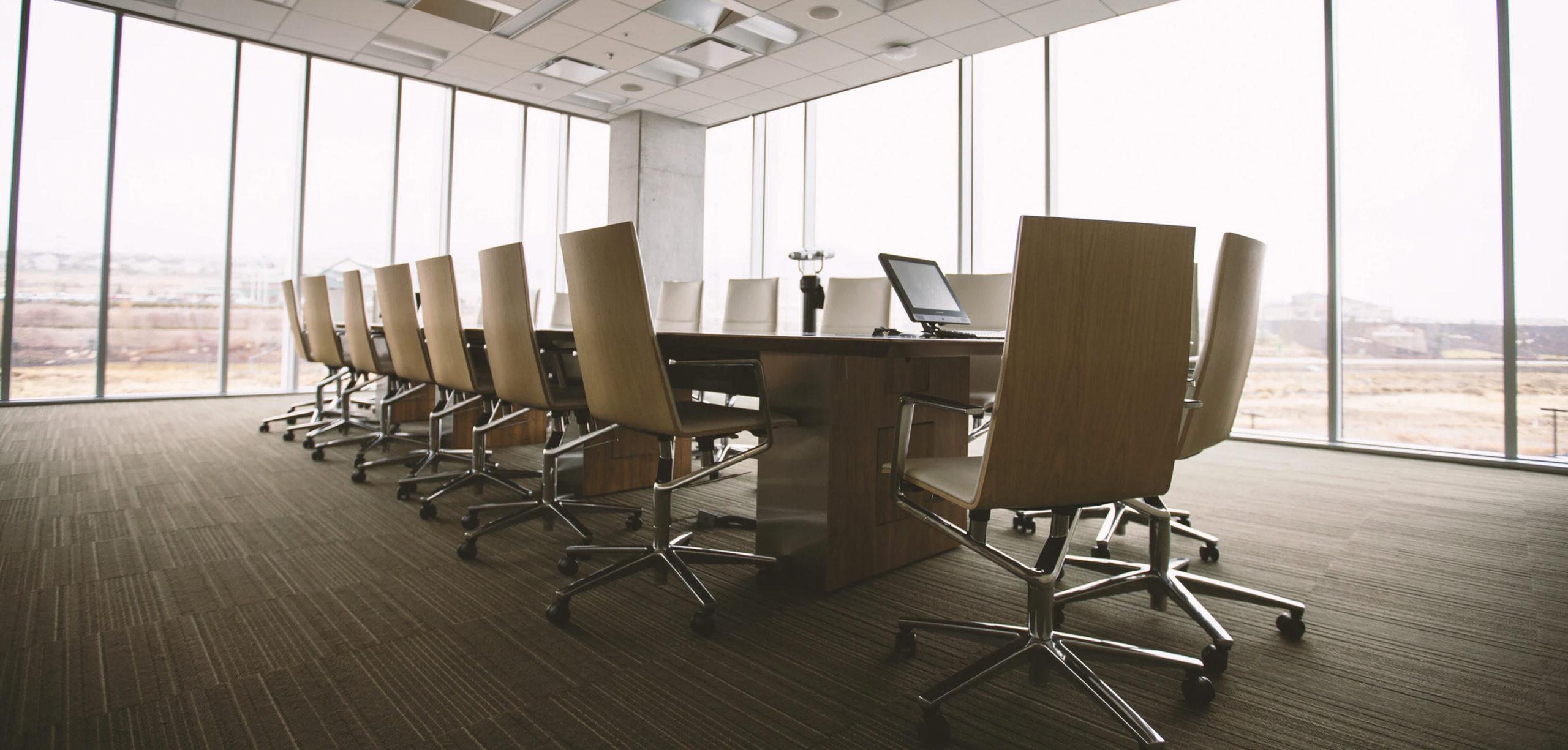 Board meeting room display
